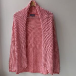 Wooden Ships Beach Sweater Cardigan Coral White S